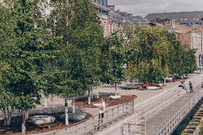 Charleroi, parcours ville-basse