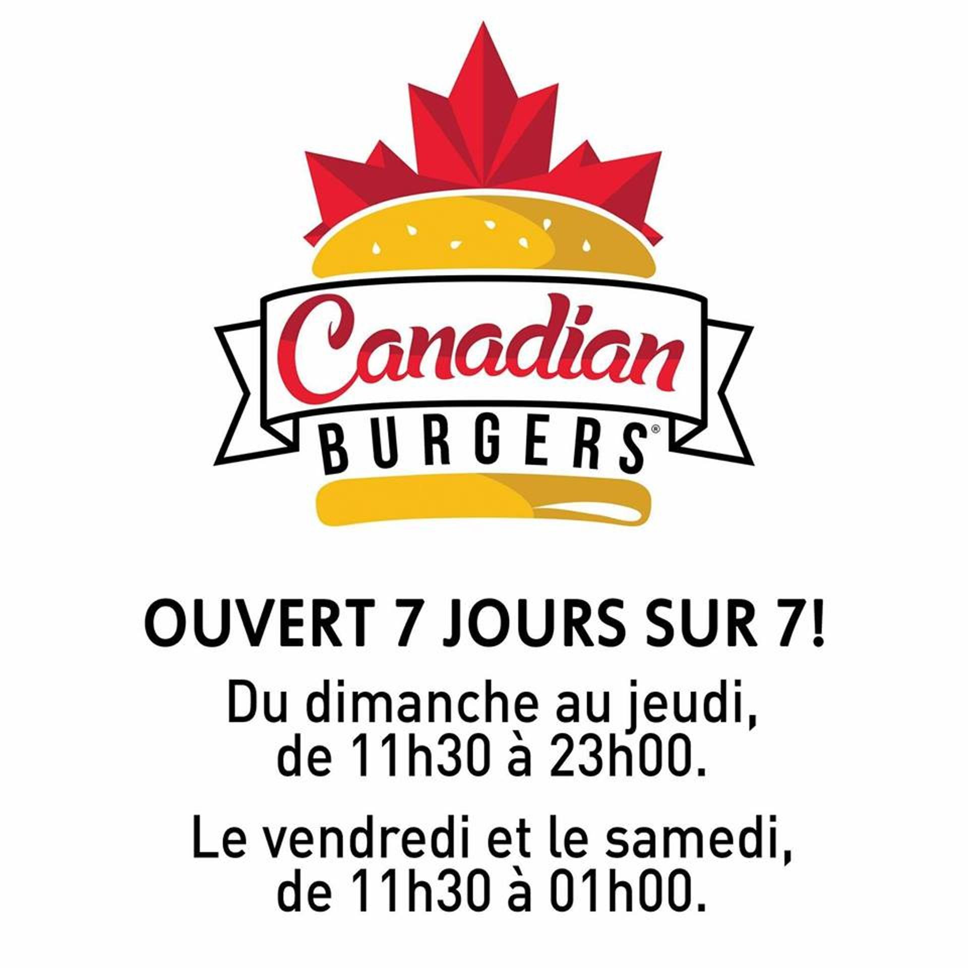 Canadian Burgers Fléron horaire