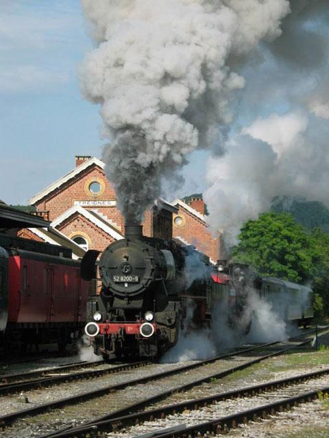 Train à vapeur spécial