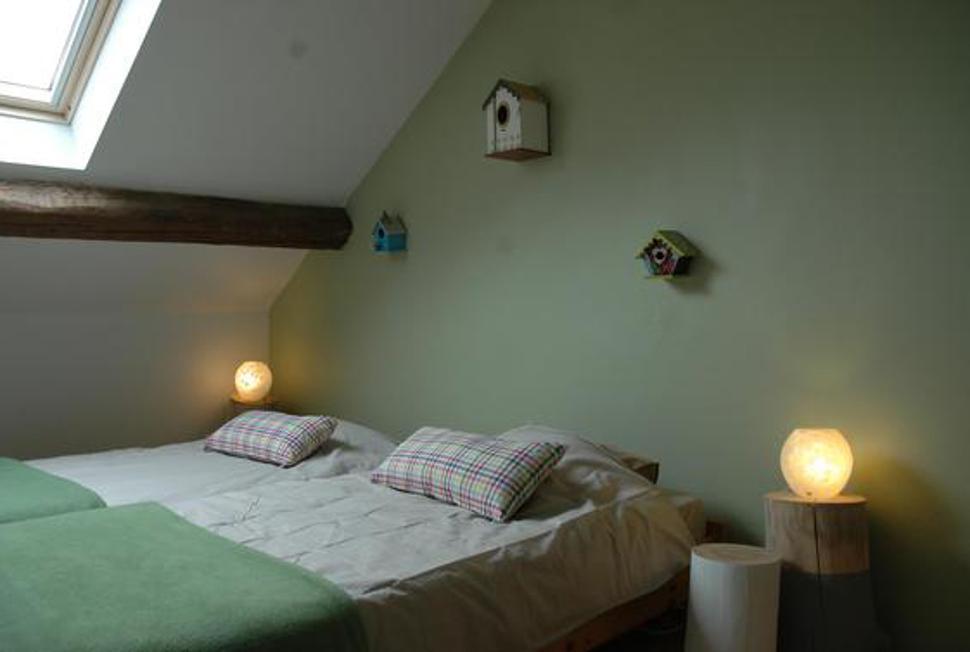 La Grange d'Ychippe - chambre verte gîte