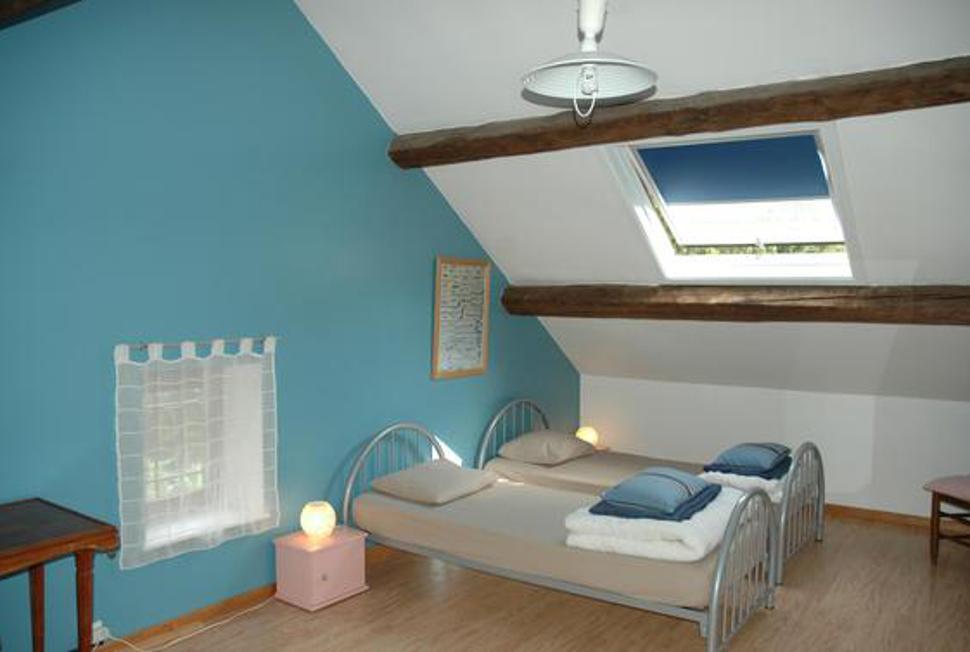 La Grange d'Ychippe - chambre bleue gîte