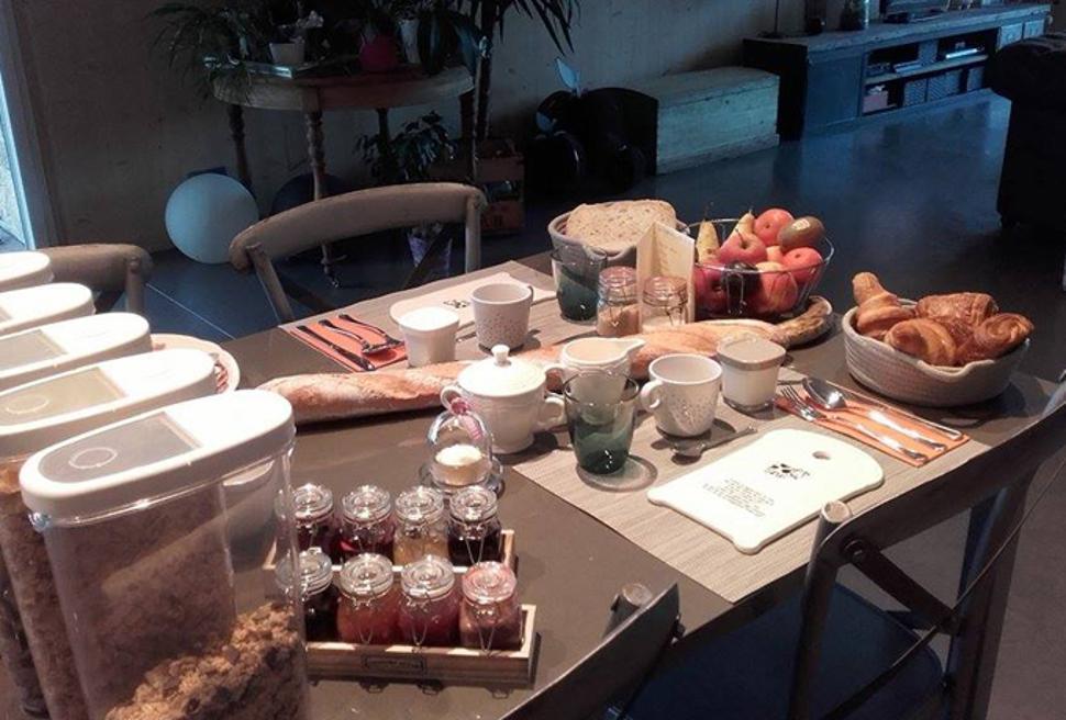 Sur le tige à Hamois - petit dejeuner