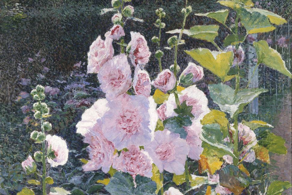 Musée des Beaux Arts et de la Céramique de Verviers - Emile Claus - Les roses trémières