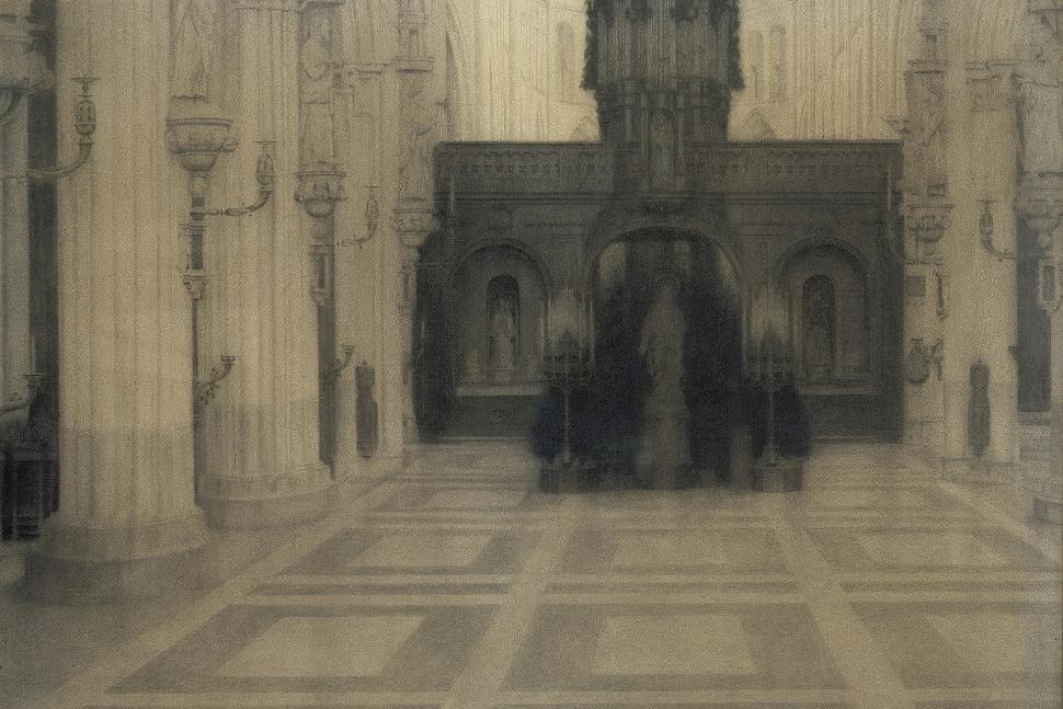 Musée des Beaux Arts et de la Céramique de Verviers - Fernand Khnopff - Bruges, une église