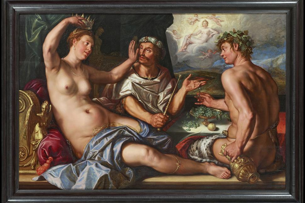 Musée des Beaux Arts et de la Céramique de Verviers - Hendrick Goltzius - Apamè usurpe la couronne du roi (les quatre pouvoirs)