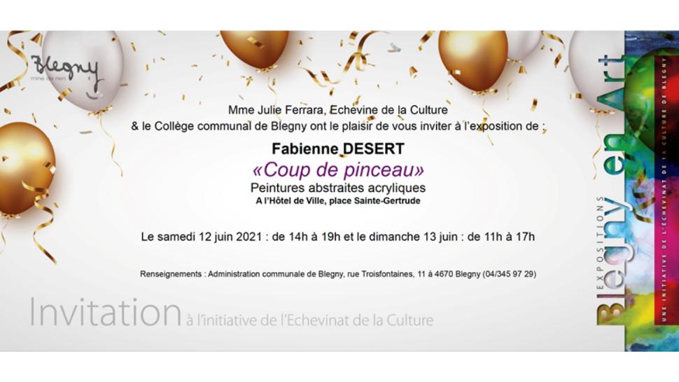 Expo Fabienne Desert ©Echevinat de la Culture Blegny 05-2021 ajusté