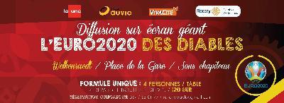 Diffusion sur écran géant de l'EURO 2020-2021 des Diables