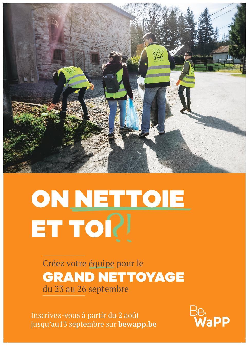 Grand Nettoyage ©BeWaPP 09-2021