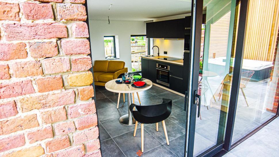 Gîte de Bouxhmont - le Fournil- living-cuisine