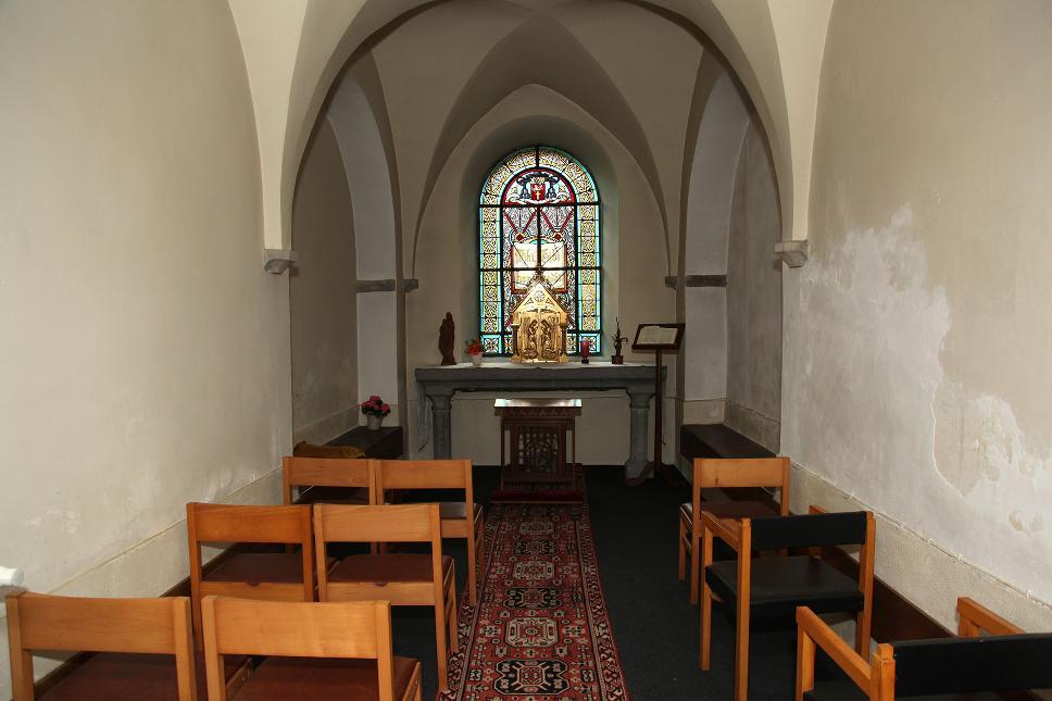Abbaye Val Dieu - chapelle vue intérieure - Aubel